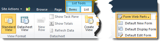 How to edit List forms in SharePoint 2010 | Pentalogic Technology