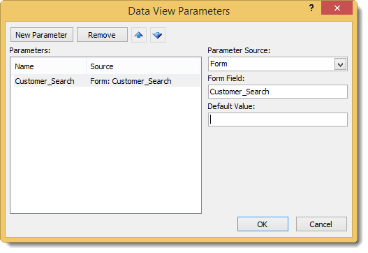 SharePoint Desinger - add parameter