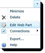 FilterPoint - edit web part